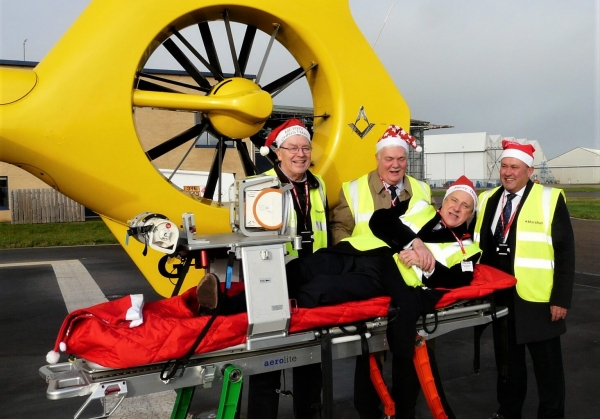 Freemasons donate £16,000 to East Anglian Air Ambulance
